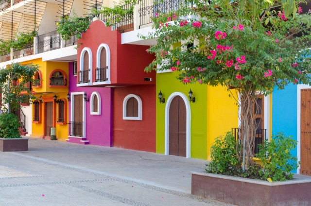 Colorful houses of Mexico