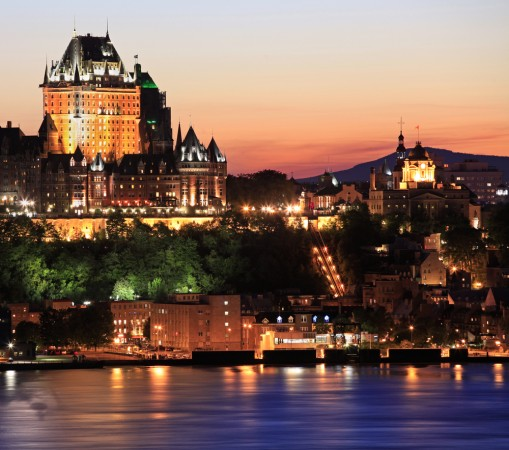 Quebec city center during night
