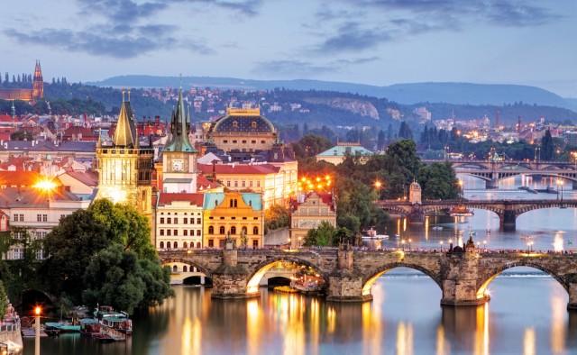 Prague seen from above
