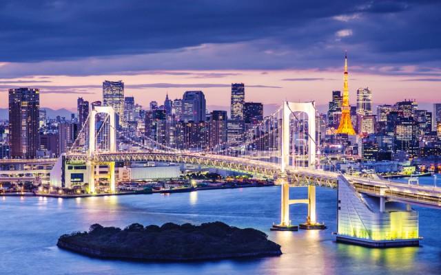 Tokyo seen during night