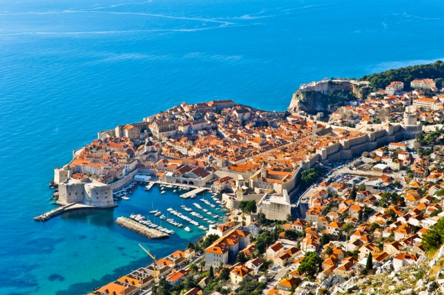 Dubrovnik seen from above