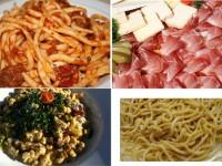 Italian food, Tonnarelli, pasta, goat cheese