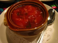 Famous Russian Borscht soup
