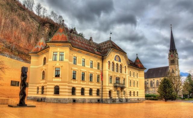 Vaduz, the capital city of Liechtenstein.