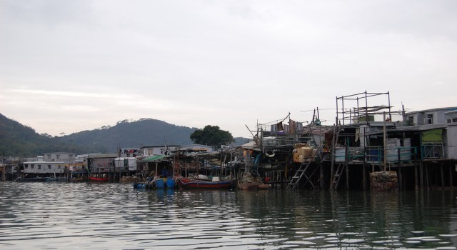 Houses on water on Lantau Island