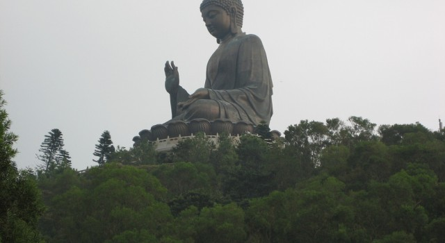Sitting Buddha on Lantau island