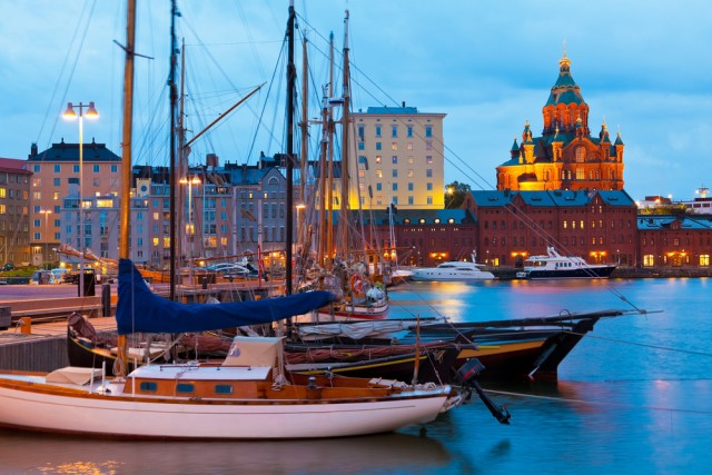 Helsinki during night