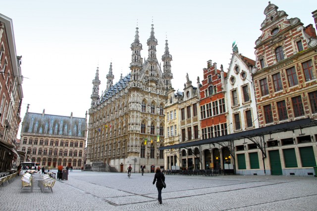 The gorgeous city center of Leuven