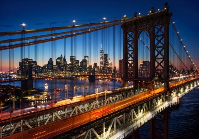 New York city during night