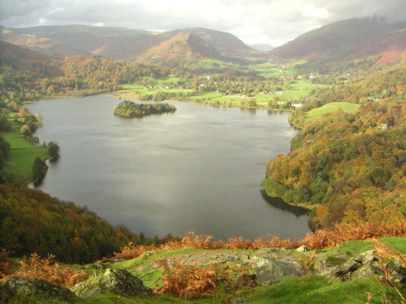 Lake District view in Great Britain