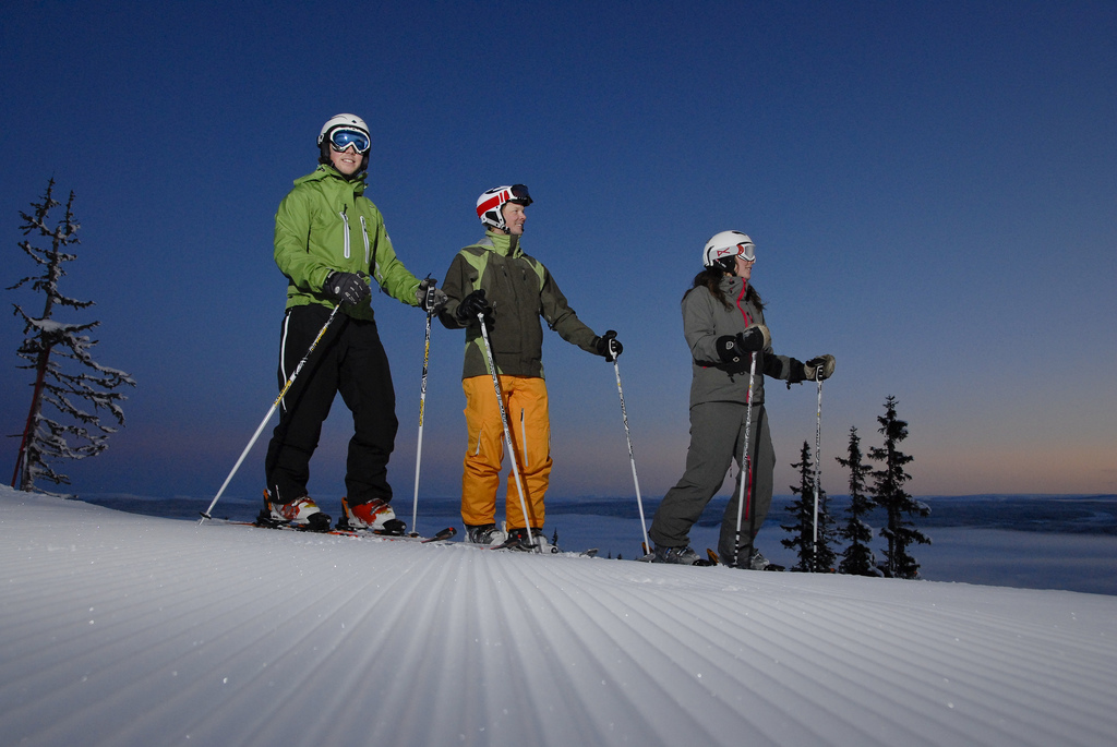Skiing group