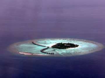 Maldivian atoll from above