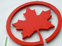 Air Canada logo - maple leaf
