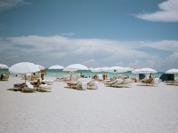 White sand beach in Miami, Florida