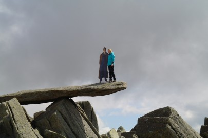 The cantilever stone of Glyder Fach in North Wales