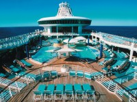 Explorer of the Seas ship, outside pool