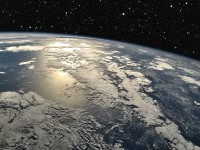 View over Earth from the outer space