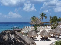 Cozumel beach view
