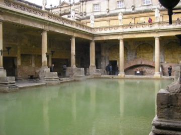 Ancient Roman bath in Bath, England