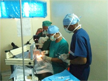 Ophthalmology - surgery in progress
