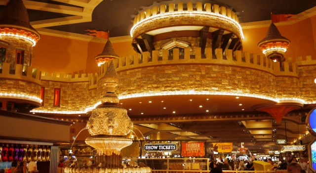 The main entrance of Excalibur