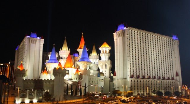 The Excalibur Hotel by night