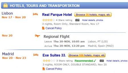 Lisbon and Madrid getaway - 6 nights for $1241