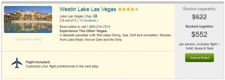 The Westin Lake Las Vegas vacation for $552 details