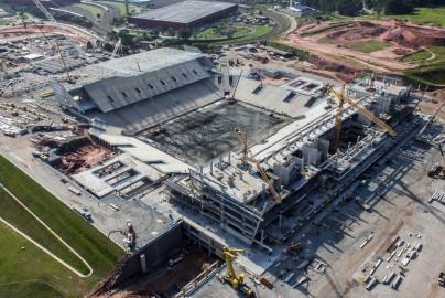 Arena Corinthians under construction