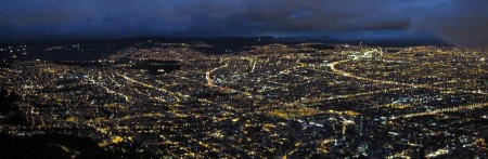 Bogota lights by night