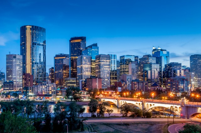 Calgary during night