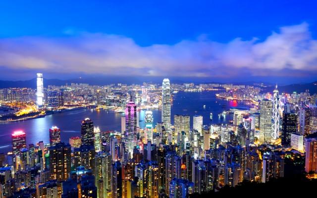 Hong Kong Skyline seen from above