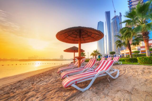 A beach in Abu Dhabi.