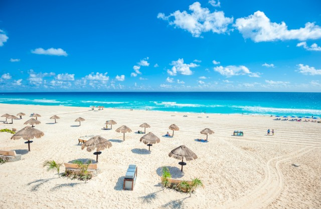 A beach in Cancun