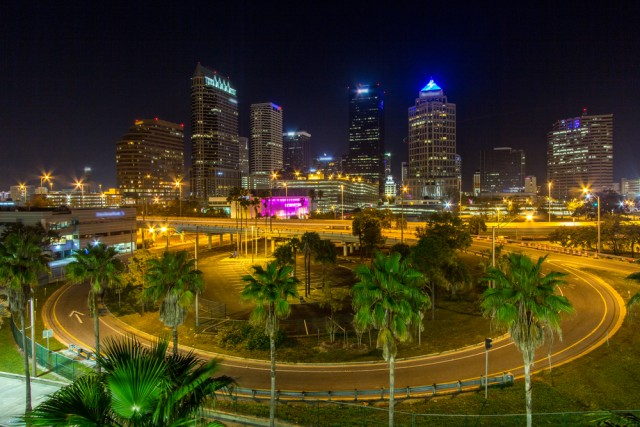 Tampa during night