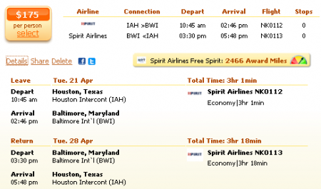 Baltimore cheap airfares with spirit airlines the travel for Cheap spirit airline tickets