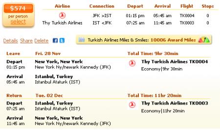 Washington to Istanbul airfare deal