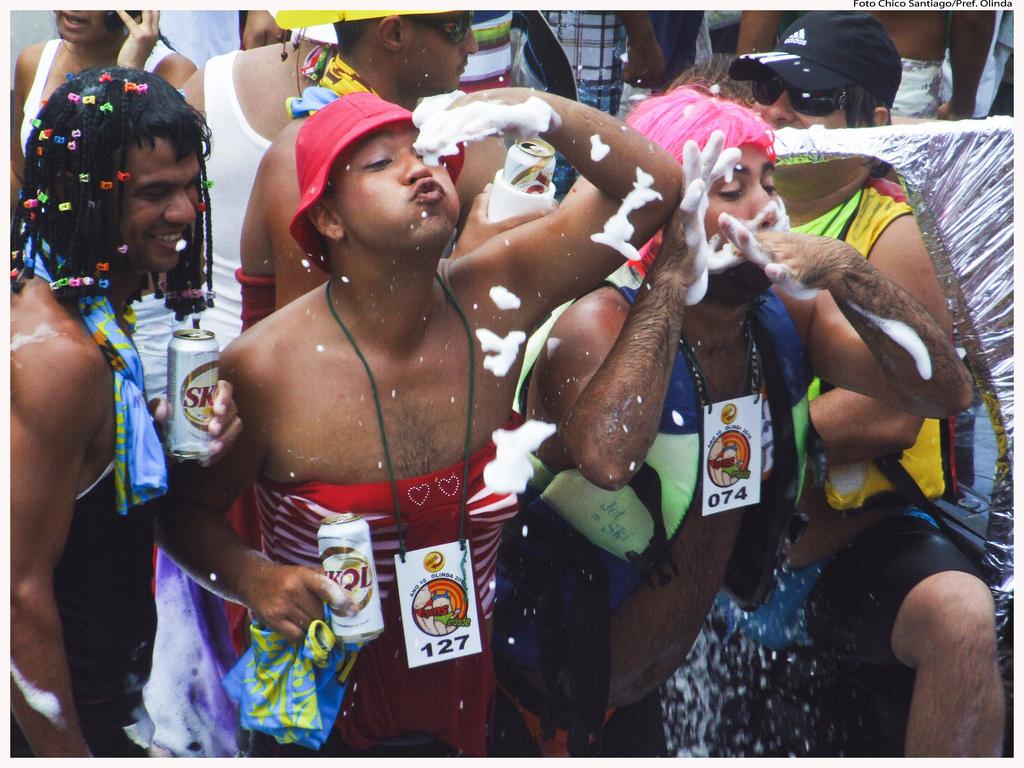 Carnival people in Santiago