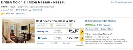 British Colonial Hilton Nassau hotel deal