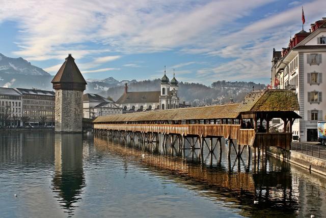 Lucerne's wooden bridge