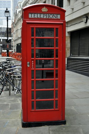 A common object in London, the red telephone box ©Darren Glanville