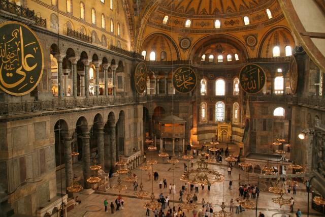 The interior of Hagia Sophia ©Dirk Heitepriem