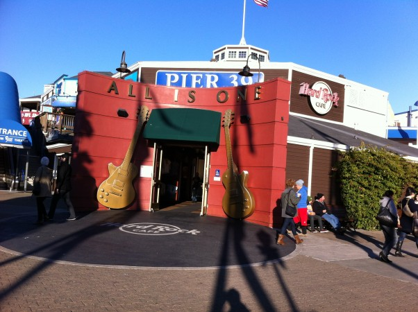 Pier 39 with it's Hard Rock Cafe