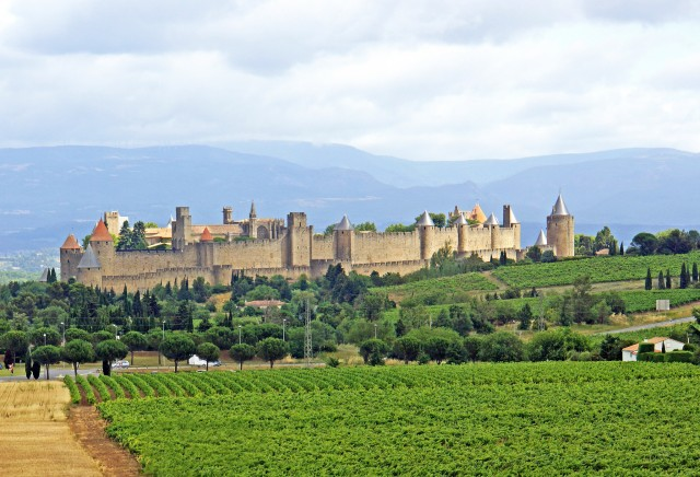 A view of the whole medieval fortress of Carcassonne @Dennis Jarvis