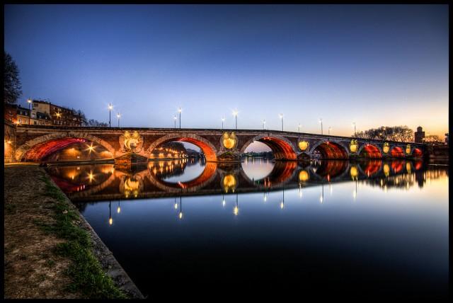 Pont Neuf at night, Toulouse @Grégory Tonon