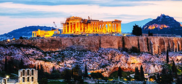The Acropolis shines brightly