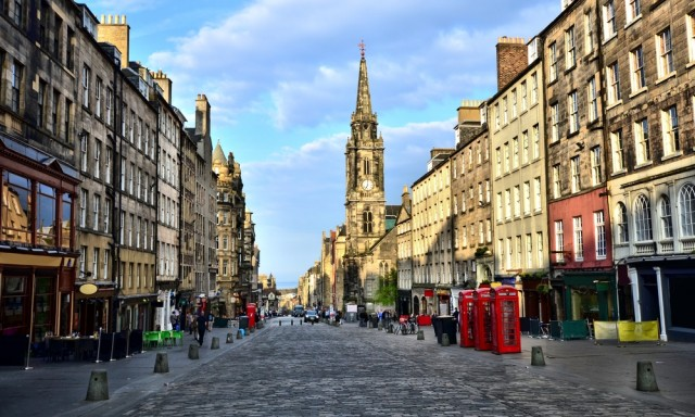 The Royal Mile, One of Edinburgh most famous streets