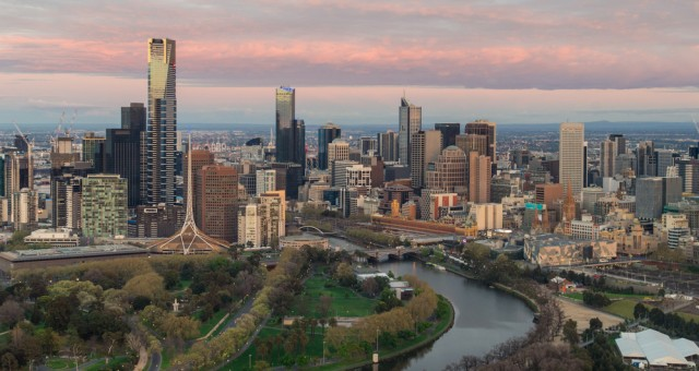 Melbourne seen from above