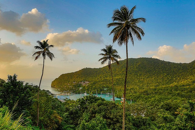 Marigot Bay, One of the finest and quintessential view of St Lucia ©Gabor Hajdufi/flickr