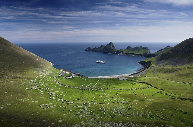 The entire St Kilda island seen from above ©Jim Richardson